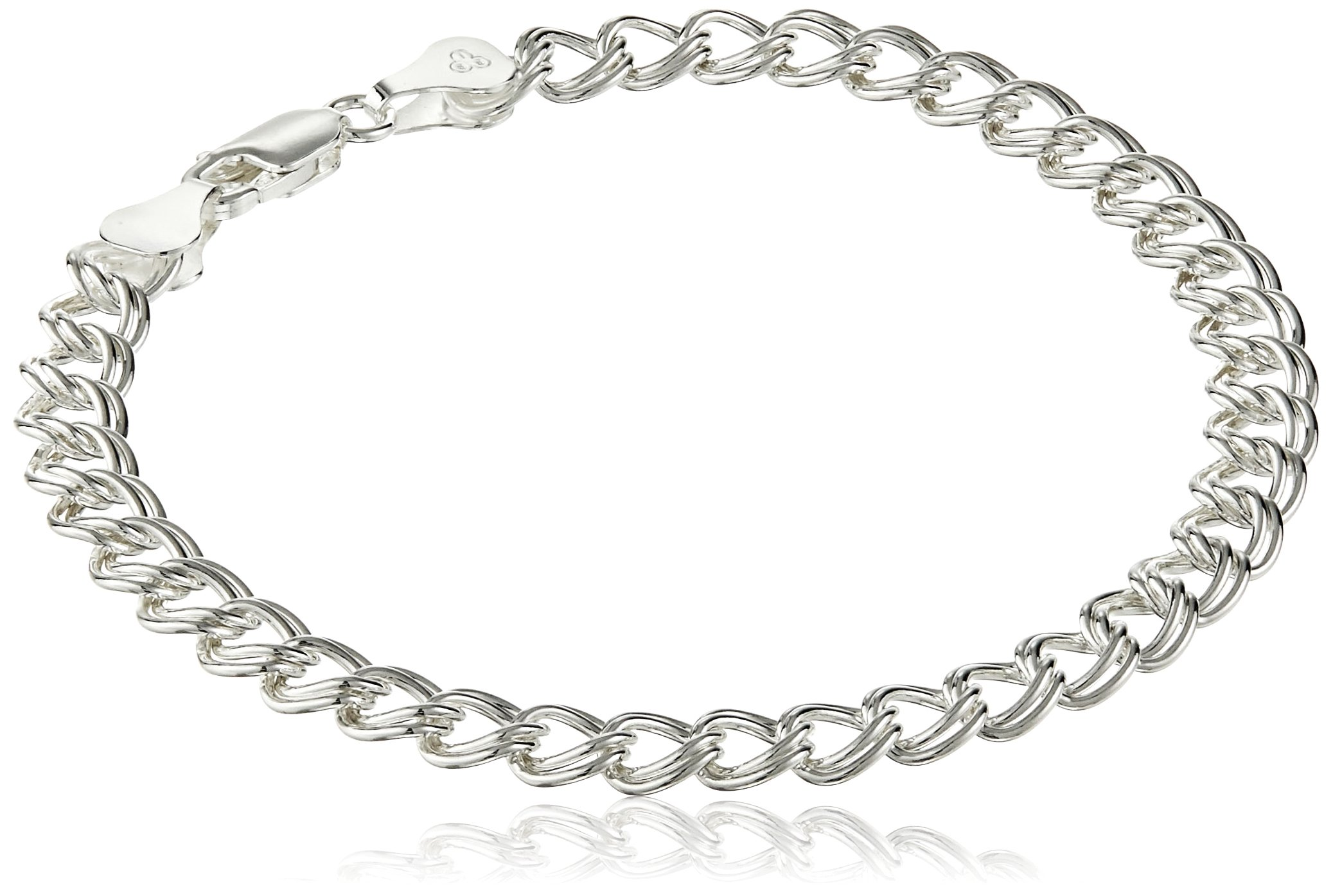 Sterling Silver Double-Link Chain Bracelet, 8''