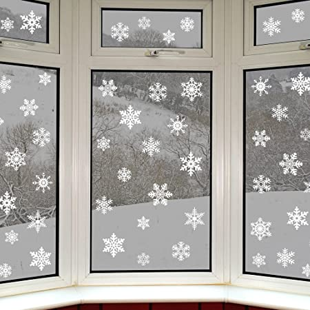 Articlings 56 original snowflake window clings by fabulous static pvc stickers