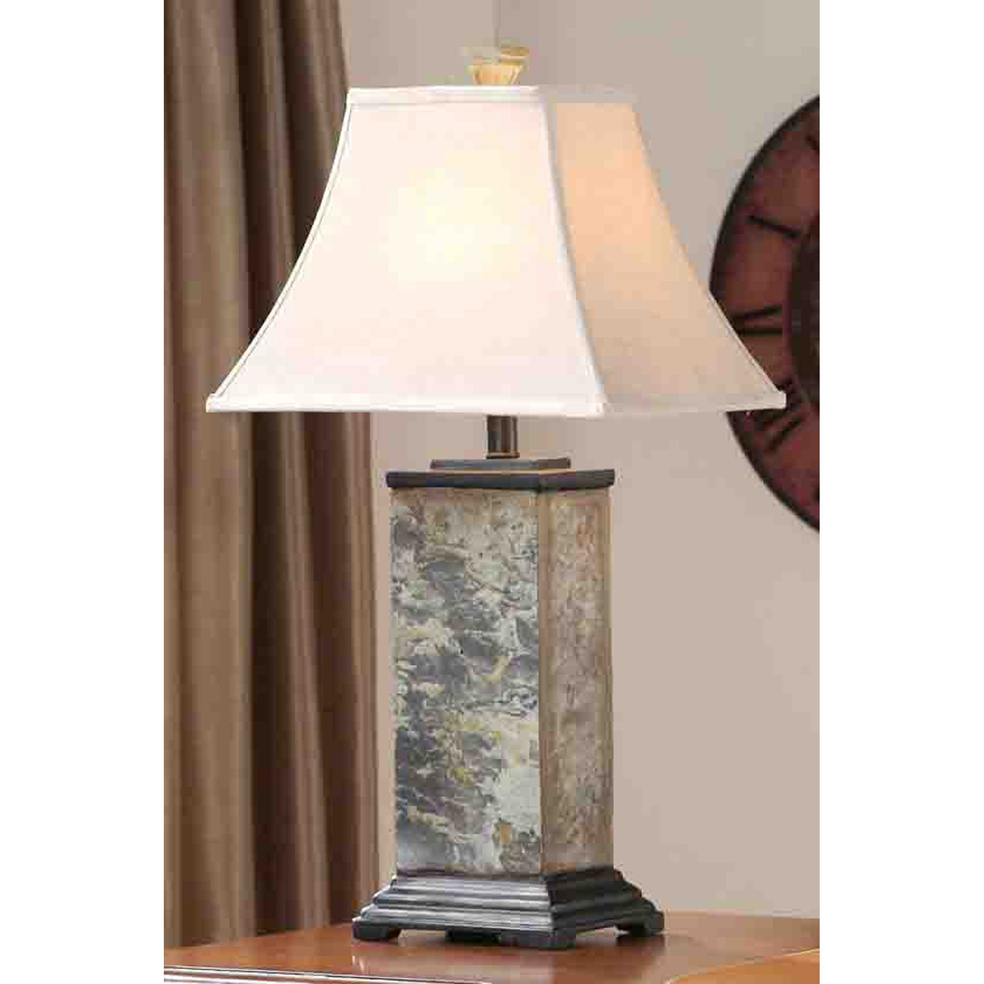 Kenroy Home Bennington 3-Piece Lamp Set with Natural-Slate Finish