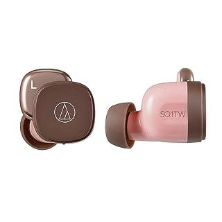 audio-technica 完全ワイヤレスイヤホン 低遅延 防水・防滴仕様 急速充電対応 最大約19.5時間再生 ピンクブラウン ATH-SQ1TW PBW