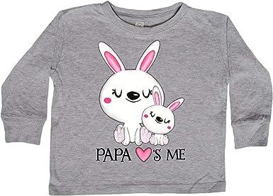 Bunny Family Baby T-Shirt inktastic Papa Loves Me
