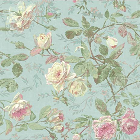 York wallcoverings sh5501 vintage luxe floral wallpaper pale blue york wallcoverings sh5501 vintage luxe floral wallpaper pale blue green pink cream mightylinksfo