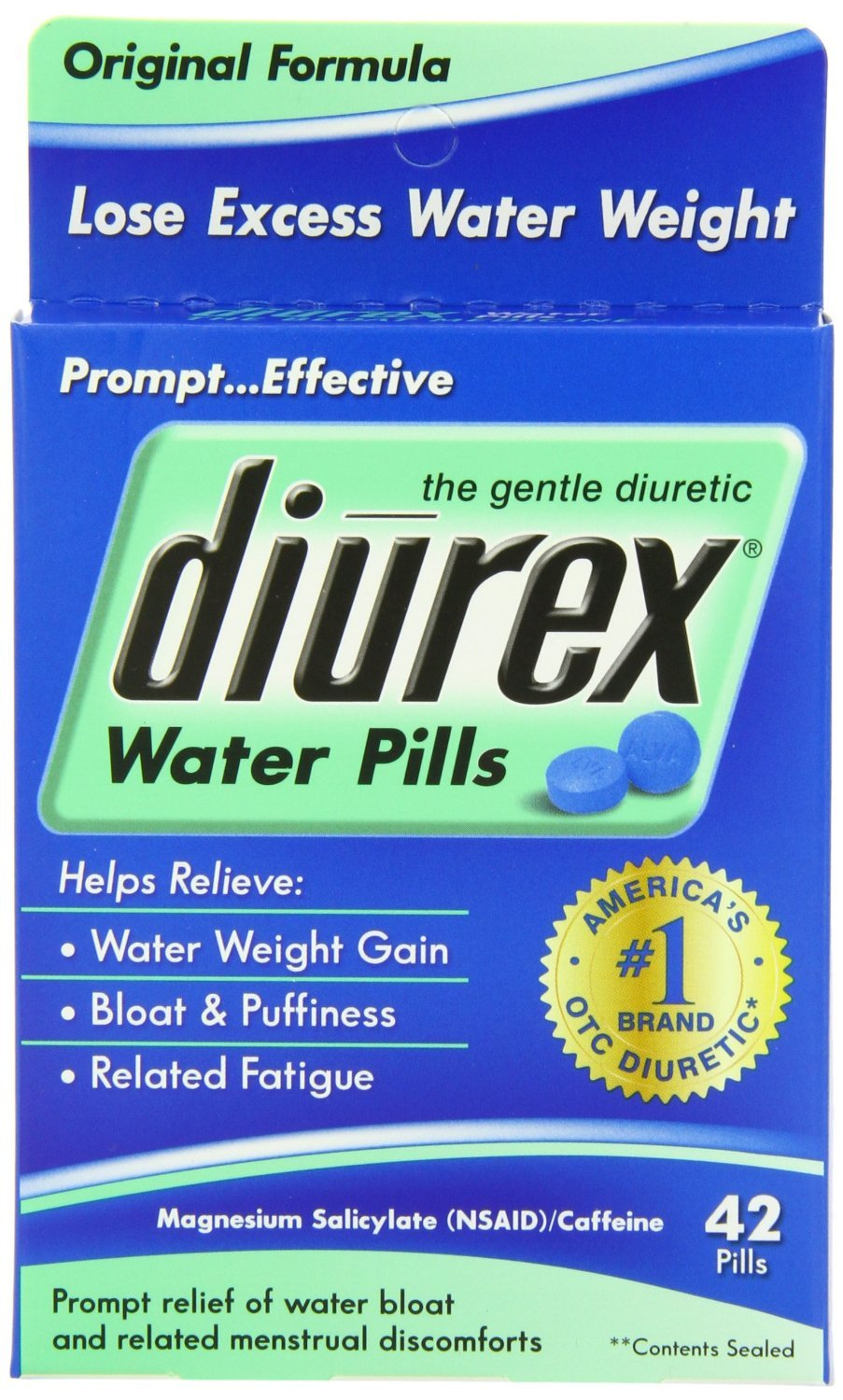 Diurex Water Pills, 42-Count (Pack of 6)