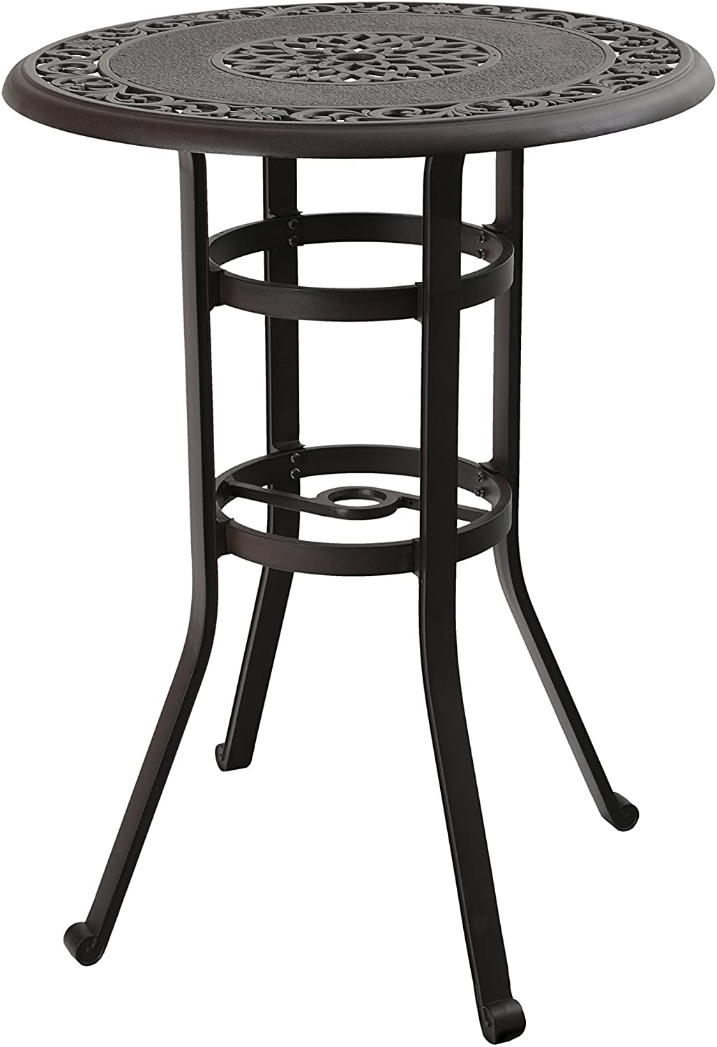 Phi Villa 32 Cast Aluminum Patio Bar Table 41 Height High Top Outdoor Table Pub Height Bistro Round Table For Paito Lawn Garden Kitchen Dining