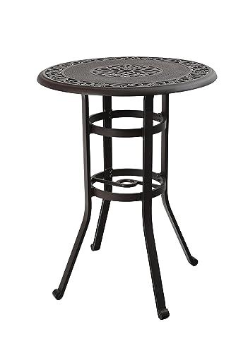 PHI VILLA 32 Cast Aluminum Pub Height Bistro Round Table for Oudoor Paito – 41 Height