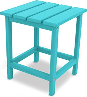 "product image for POLYWOOD ECT18AR Long Island 18"" Side Table, Aruba"