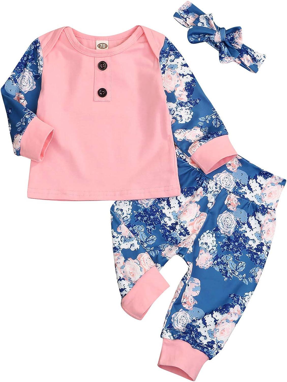 2PCS Toddler Infant Baby Girl Cotton Ruffles T-Shirt Top+Pants Autumn Winter Pajamas Clothes Tracksuit Sets