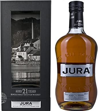 Jura 21 YO (con estuche) 70cl. Isle of Jura. 1un.: Amazon.es: Alimentación y bebidas