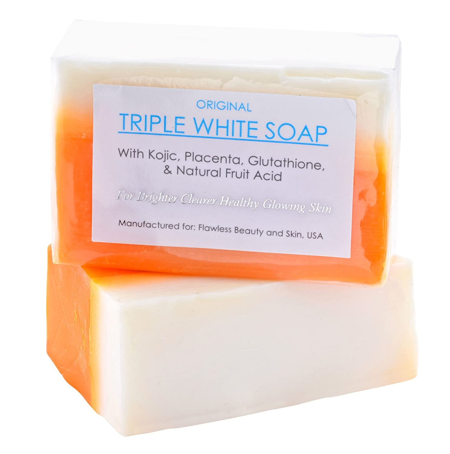 Kojic Acid, Placenta, Glutathione Triple Whitening/bleaching Soap Appx. 150gms