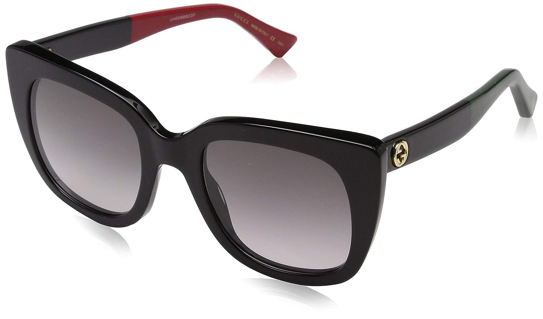Gucci GG0163S 003 Gafas de sol, Negro (3/Grey), 51 para Mujer
