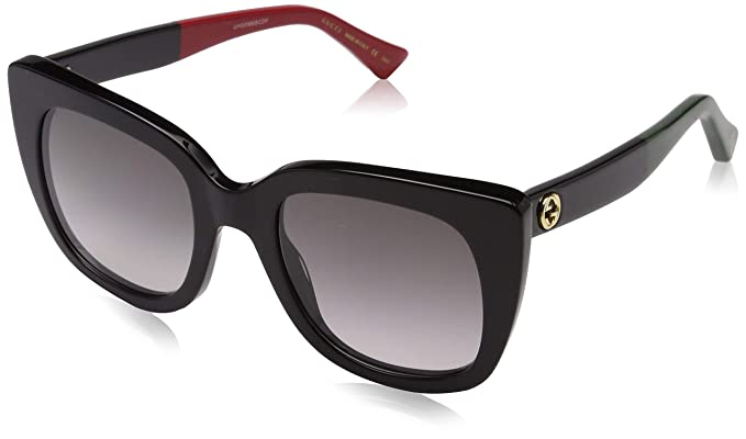 Gucci GG0163S 003 Gafas de sol, Negro (3/Grey), 51 para ...