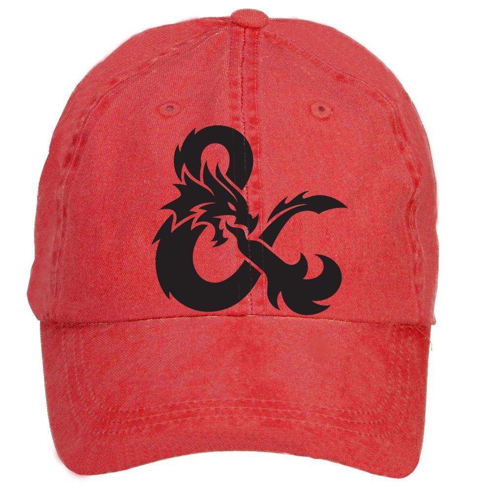Jidlg Custom Man Cotton Dungeons Dragons Game Sign Adjustable Baseball Cap
