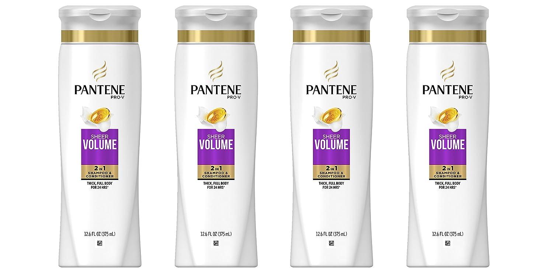 Amazon.com: Pantene Pro-V Sheer Volume 2 In 1 Shampoo & Conditioner, 12.6 Fl Oz, Pack of 4: Beauty