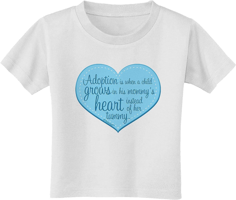 TooLoud Proud Mom Heart Toddler T-Shirt Dark