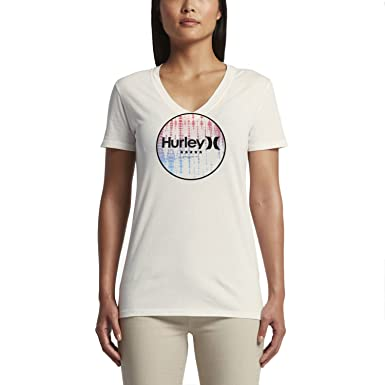 Hurley 4th of July Perfect V-Neck Women's T-Shirts Sail
