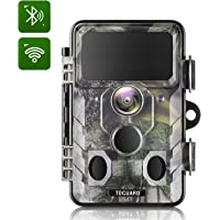 TOGUARD Upgraded Trail Camera WiFi Bluetooth 20MP 1296P Hunting Game Camera with 120° Monitoring Angle with Motion Activated Night Infrared Vision Waterproof Outdoor Scouting Game Camera