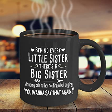 Funny Sister Quotes Amazon.com: SAYOMEN   Sister Coffee Mug   Funny Sister Mug  Funny Sister Quotes