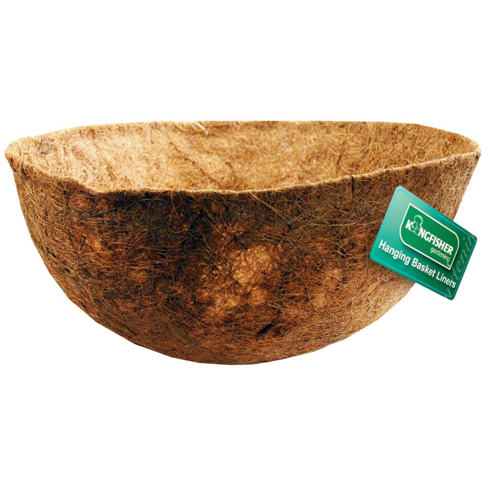 Kingfisher 12 Inch Bowl Shaped Coco Hanging Basket Liner