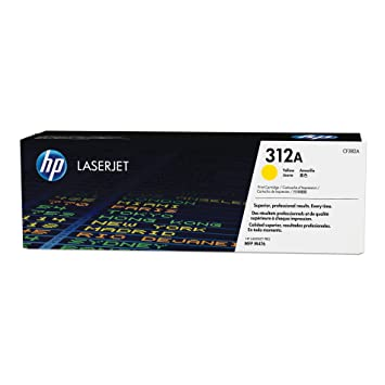 HP CF382A 312A Laserjet Toner Cartridge Toner, Yellow Laser Printers at amazon