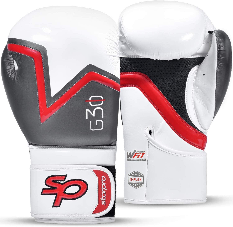 Gris Grappling Starpro Guantes de Boxeo Muay Thai 12oz 14oz | 8oz Ideales para Kickboxing Negro Training Sparring 10oz Hombres y Mujeres Entrenamiento Azul 16oz