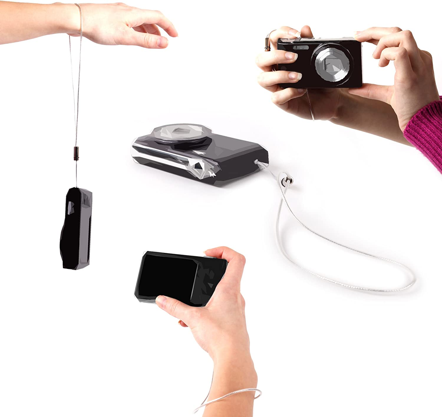 Compatible with JVC GZ-HM300SEK Everio HD /& MS110BEK Camcorders DURAGADGET Hardwearing Braided Wrist Carrying Strap