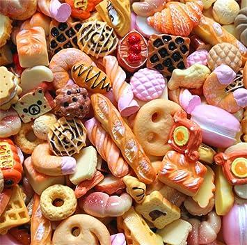 30 piezas bonitos abalorios de resina para dulces, fruta, postre, helado, eslabones