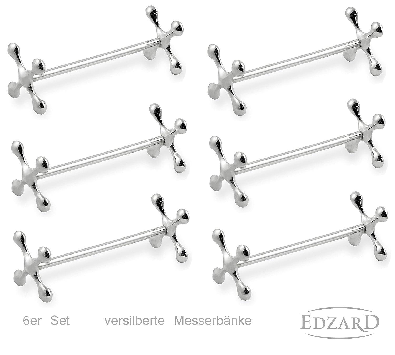 EDZARD Reposa-Cubiertos, 6 Piezas, Elegantes plateados, Reposa-Cubiertos: Amazon.es: Hogar