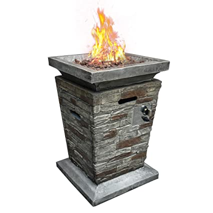 Amazon Com Cloud Mountain Fire Column Fire Tables 19 5 Square