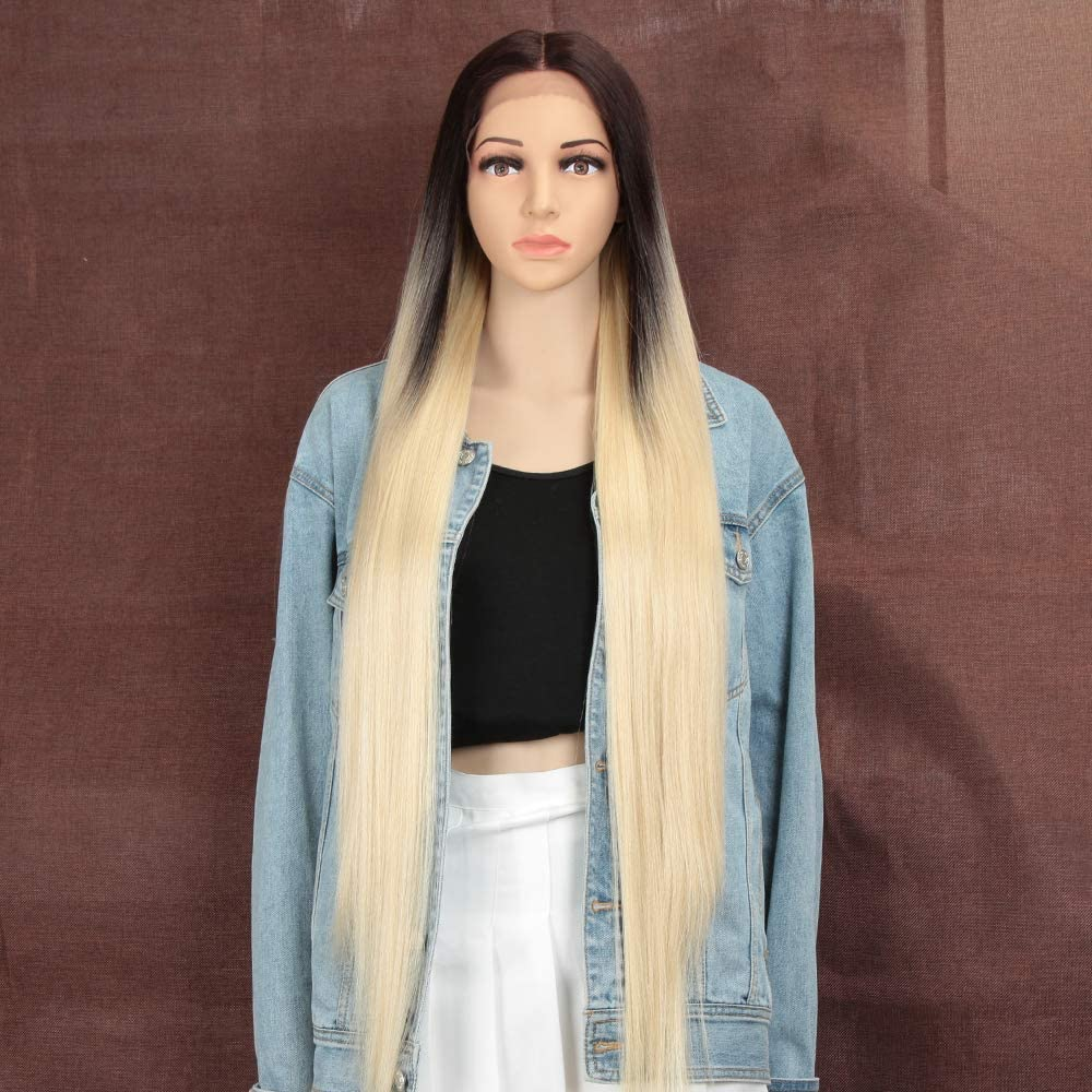 Style Icon Wigs 37 Super Long Lace Front Silky Straight Hair Wigs For Women Soft Hair Replacement Synthetic Wigs Amazon Co Uk Beauty