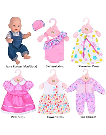 98763ffe729b ebuddy 6 Sets Doll Clothes Outfits for 14 to 16 Inch New Born Baby Dolls and