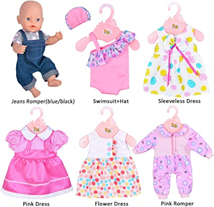 2 Packs 18inch Baby Doll Printed Diapers for American Doll Baby Dolls Kits