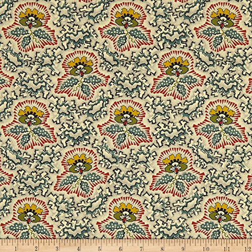 Andover 0573978 Maling Road Canterbury Flower Blue Fabric by The Yard