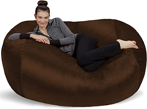 Sofa Sack – Plush Bean Bag Sofas with Super Soft Microsuede Cover – XL Memory Foam Stuffed Lounger Chairs for Kids, Adults, Couples – Jumbo Bean Bag Chair Furniture – Chocolate 6