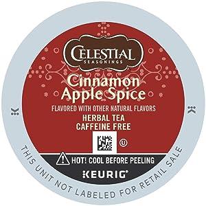 Celestial Seasonings Tea Cinnamon Apple Spice Keurig Single-Serve K-Cup Pods, 24 Count