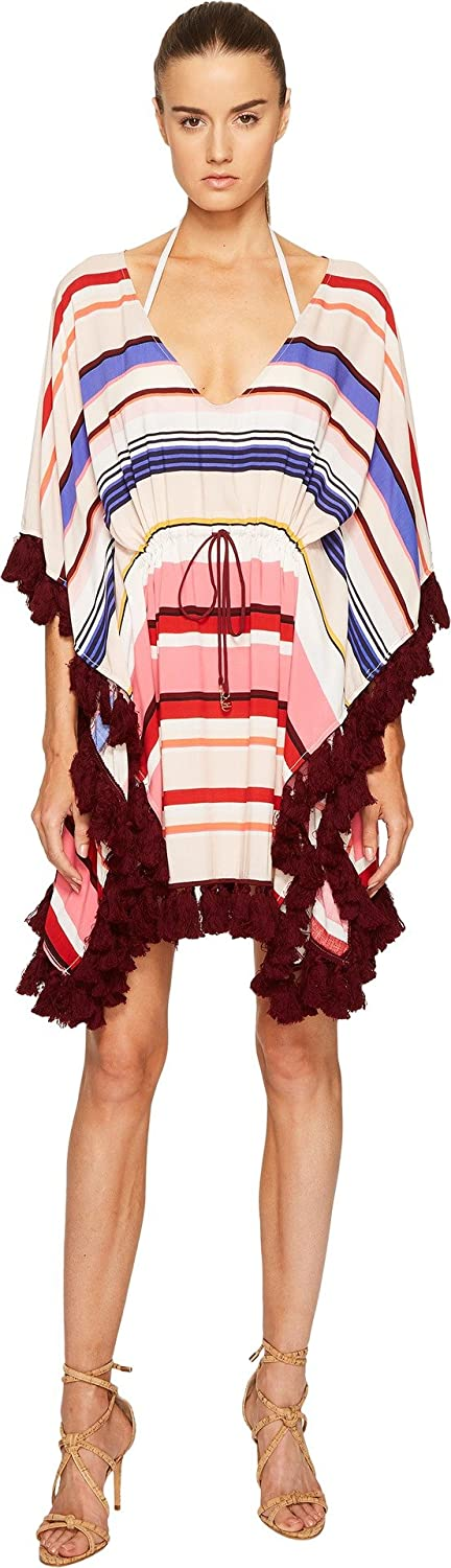 a22891be40 Amazon.com: Kate Spade New York Women's Miramar Beach #59 Kaftan Cover-up w/ Tassels Multi XS (US 0): Clothing