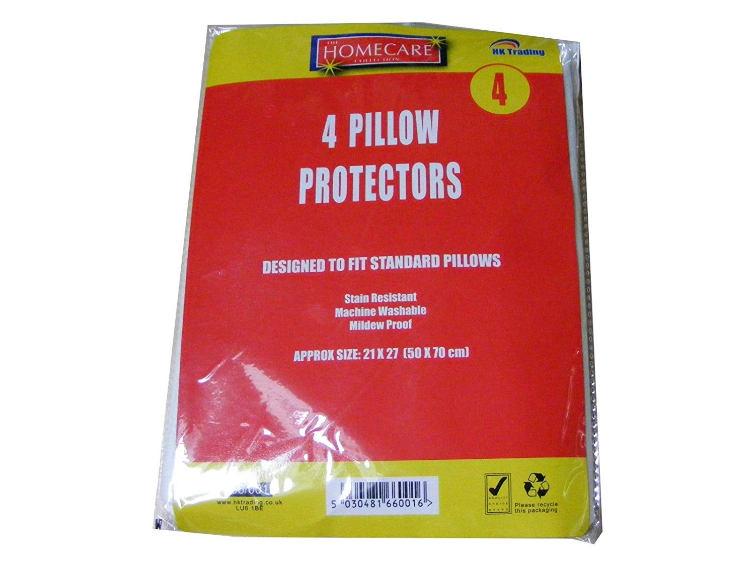 2X4 Pack of Pillow Protector Covers - Machine Washable Polypropylene Fabric Material BedWettingSheets