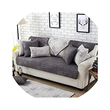 Amazon.com: Modern Cotton Sofa Cover Universal Sectional Couch ...