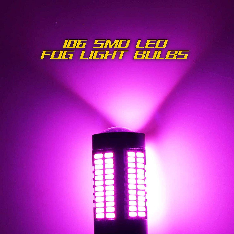 YaaGoo 9006 purple Pink LED DRL Driving Fog Light,Replacement of Halogen,360 degree super bright,106pcs LED bulbs