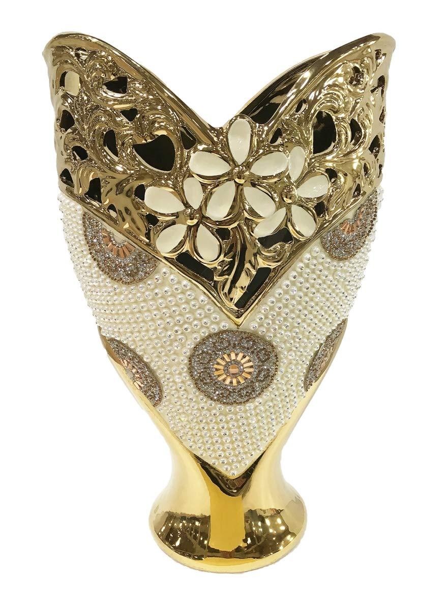 D'Lusso Designs Shana Design Deco Vase