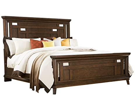 Amazon.com: Broyhill Estes Park Panel Bed, Queen: Kitchen & Dining