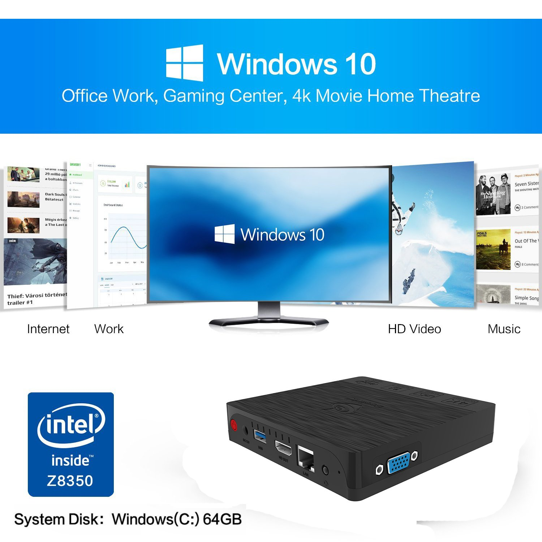 MINI Computer, Beelink BT3 Pro 4GB/64GB MINI PC, Intel Atom X5-Z8350 PC Desktop 4K 64Bit Dual WiFi BT 4.0 1000Mbps LAN Support Windows 10 [Dual Output-VGA&HDMI] by BoLv (Image #4)