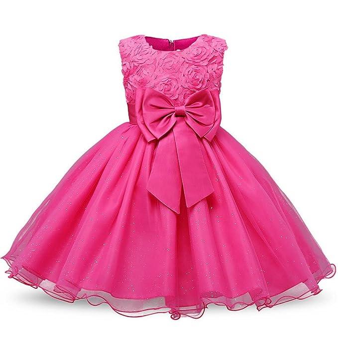 fdd59a99df Amazon.com: EDDDD New Summer Flower Girl Dress Ball Gowns Kids ...