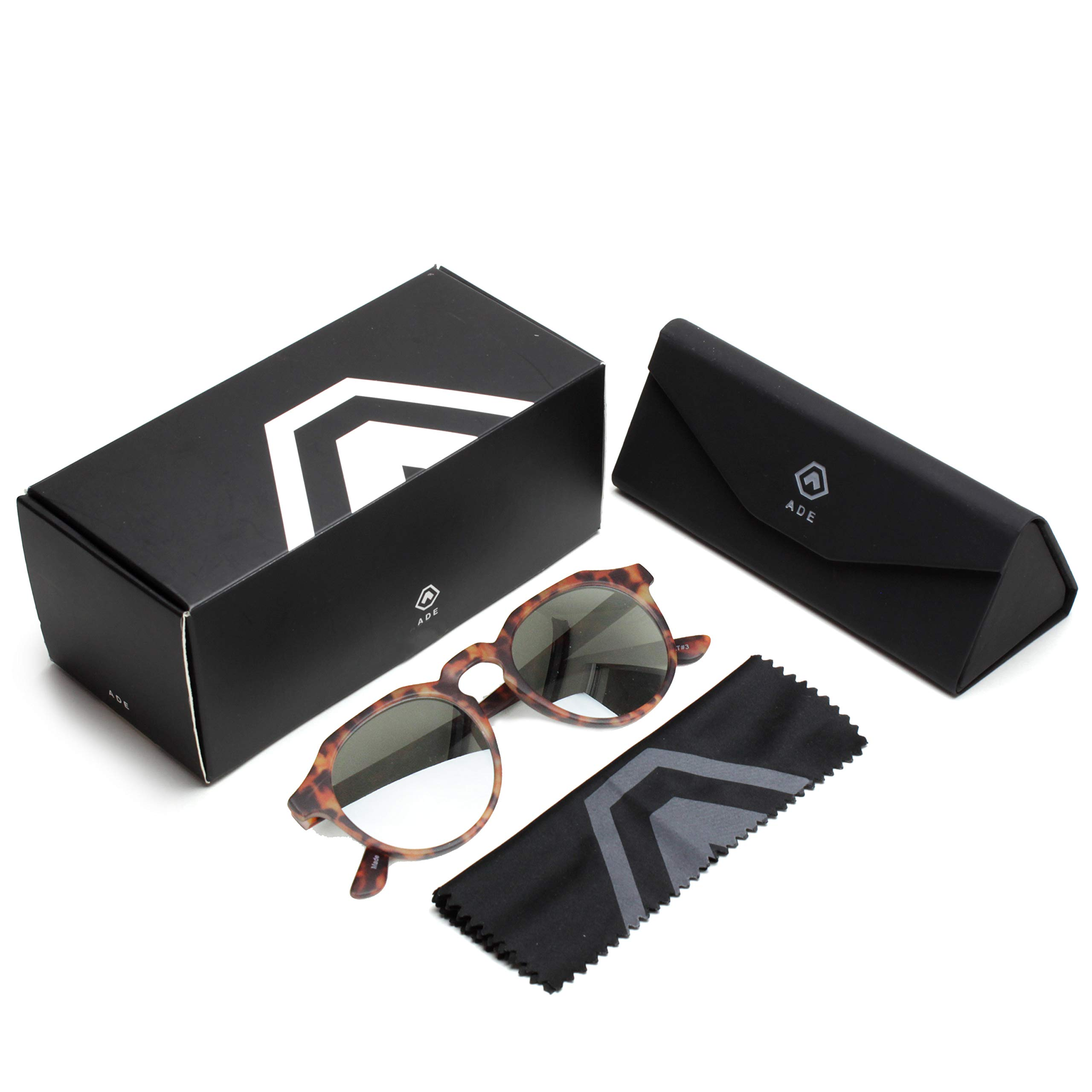 ADE Round Sunglasses for Men - Stylish Circular Glasses with UV Sun Protection