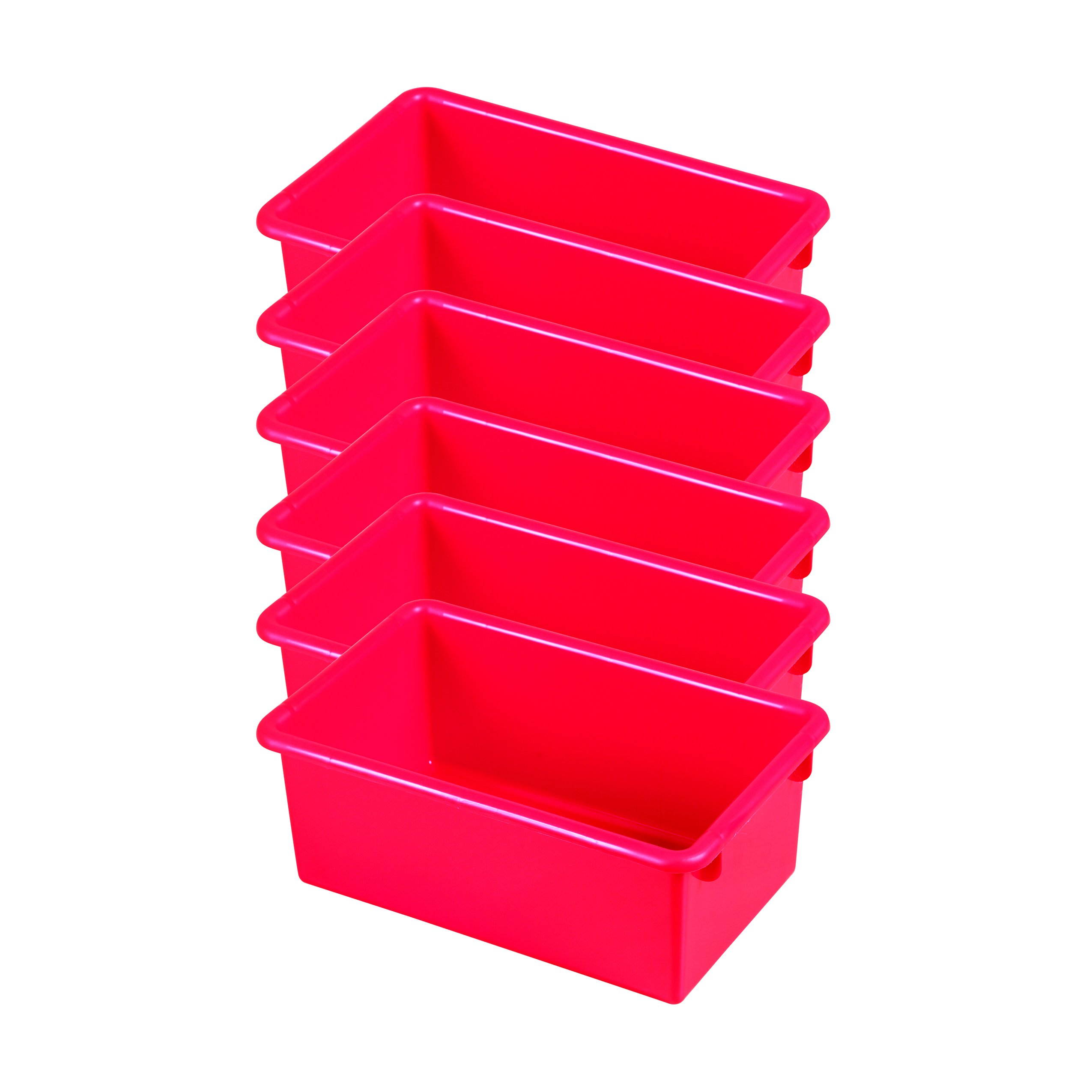 ECR4Kids Stack and Store Tubs, Red (6-Pack)