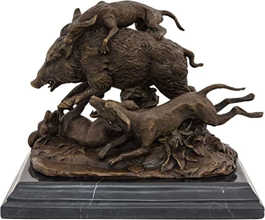 Escultura de bronce perro de caza escultura perro personaje bronce personaje bronce Antik-estilo Dog