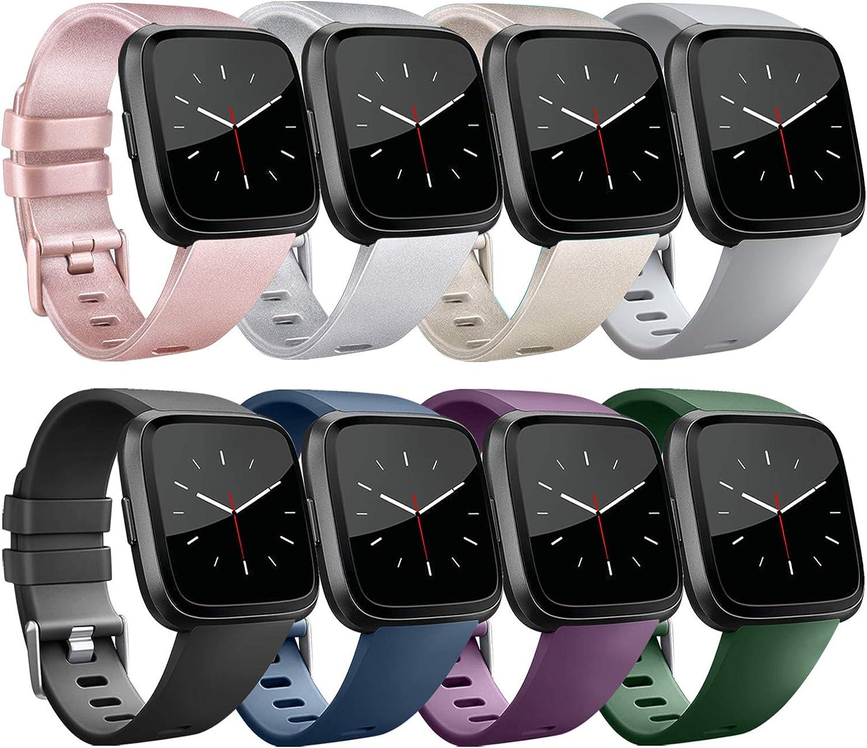 Yandu para Fitbit Versa Correa, Correa de Reloj de Pulsera de Reemplazo Clásico para Fitbit Versa Smartwatch (8-Pack 01, L): Amazon.es: Ropa y accesorios