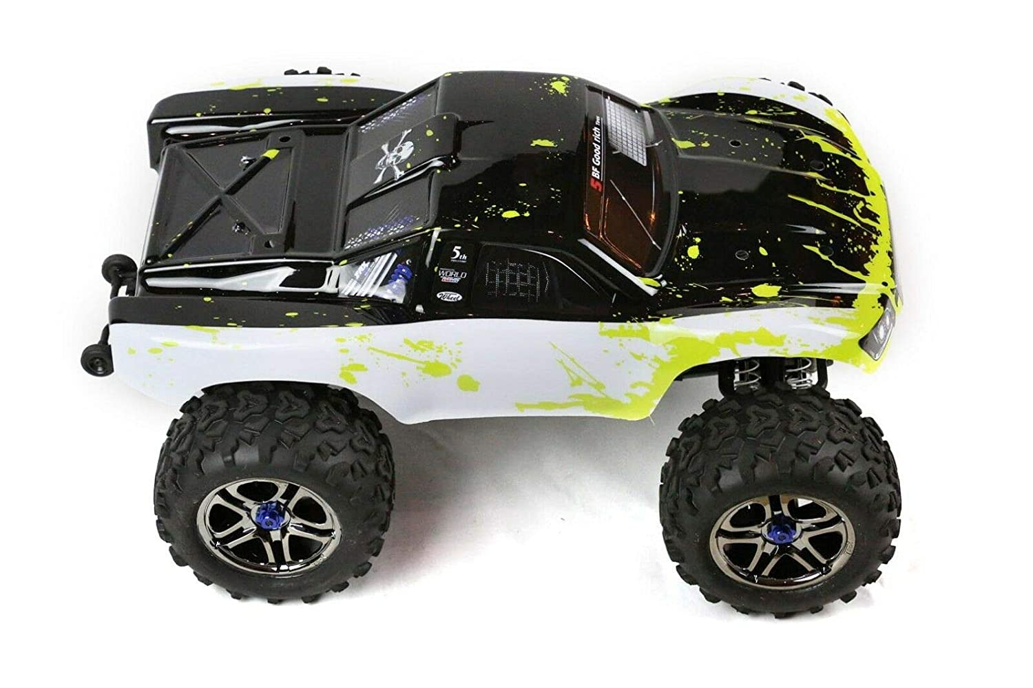 SummitLink Compatible Custom Body Muddy Green Over White//Black Replacement for 1//10S cale RC Car or Truck Truck not Included EMSS-WBG-02