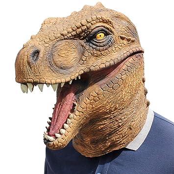 PUDDINGY® Jurásico Mundo Dinosaurio Máscara Dibujos Animados Tirano-Saurio Rex Sombrero Víspera De Todos