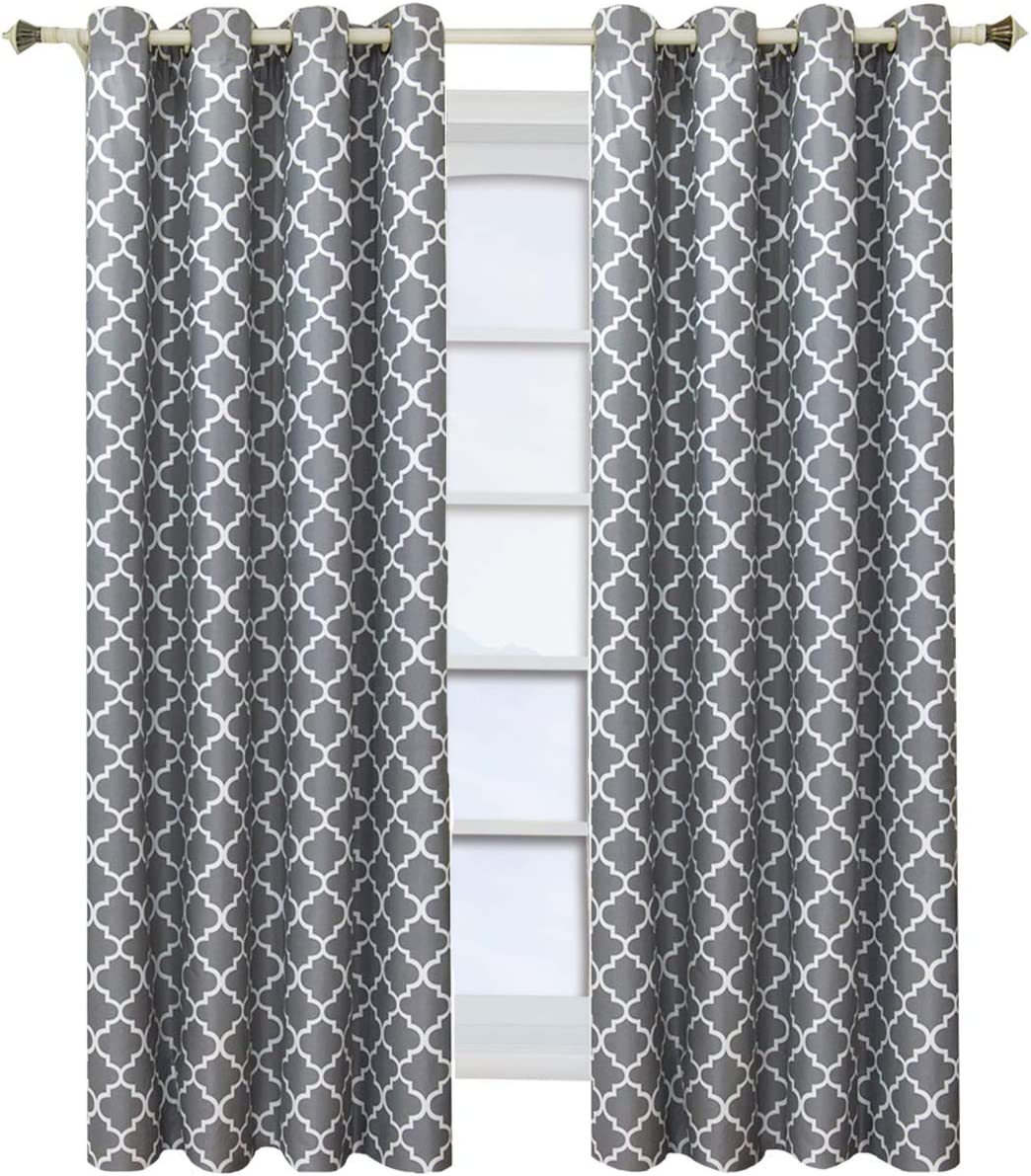 Royal Tradition Set of 2 Panels 104 Wx84 L Meridian - Grey- Thermal Insulated Room-Darkening Curtain, 52-Inch by 84-Inch Each Panel. Package Contains Set of 2 Panels 84 inch Long.
