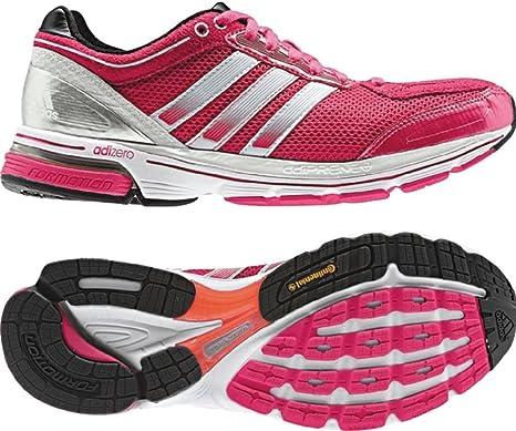 0603dbc6293e adidas Boston 3 Bright Pink White Running Runner Fitness Womens ...